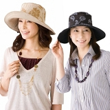 【寬緣淑女款。雙面可戴抗UV防曬遮陽軟帽】褐色/黑色,雙色可選!