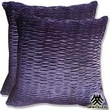 【M.B.H-緞彩紗璃】精緻抱枕(紫)(2入)