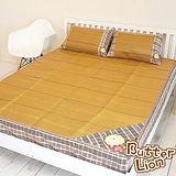 【奶油獅】台灣製造~厚床專用5尺紙纖涼蓆三件組