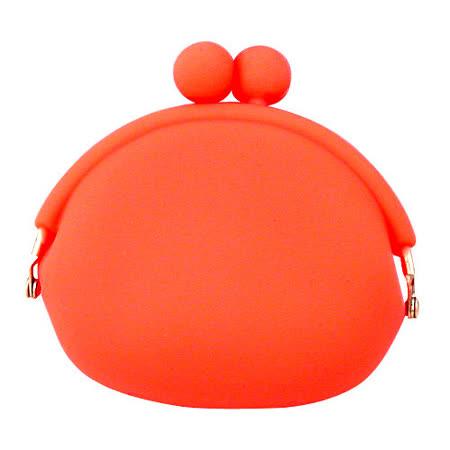 【iSFun】糖果色調*矽膠零錢包/橘
