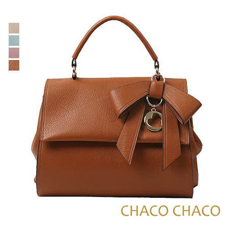 現貨【CHACO韓國】韓製Lady bag優雅甜心蝴蝶結吊飾包 NO.2947 駝色