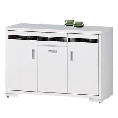 《顛覆設計》典雅純白4尺白色餐櫃