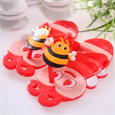 (購物車)魔法Baby~可愛蜜蜂造型拖鞋(紅)~時尚設計童鞋~s5881