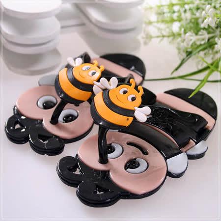 (購物車)魔法Baby~可愛蜜蜂造型拖鞋(黑)~時尚設計童鞋~s5874