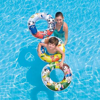 (購物車)《購犀利》美國品牌【Bestway】24吋可愛卡通造型全彩充氣泳圈(款式隨機出貨)