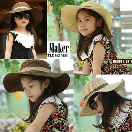 購物車:韓版《優雅大沿帽-咖啡》甜美遮陽帽~草帽 (現貨+預購)
