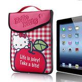 Hello Kitty平板防護袋-愛蘋果-iPad 2適用
