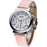 SEIKO LUKIA 粉嫩春色計時腕錶(V175-0AJ0S)粉色SSVS007J