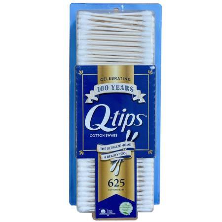 美國Q-tips紙軸棉花棒一盒625支(100%純棉)