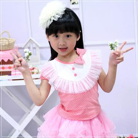 (購物車)魔法Baby ~甜美系蕾絲蝴蝶結上衣(粉紅)~時尚設計童裝~k20205
