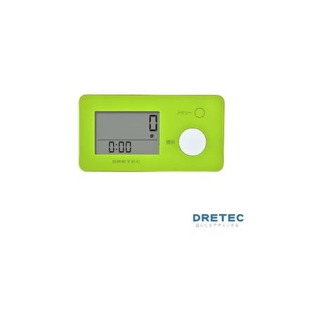 【日本DRETEC】3D 亮彩隨身計步器-綠