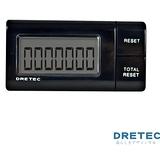 【日本DRETEC】流線型隨身計步器-黑