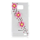 Miravivi Samsung Galaxy S2 i9100 甜美太陽花水鑽保護殼