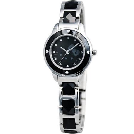 HELLO KITTY 甜心派對陶瓷腕錶(LK608LWBI)-黑