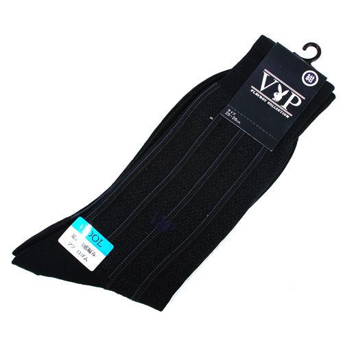 PLAYBOY 直條紋棉質紳士長襪~深藍