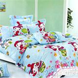 《小兔乖乖》雙人加大四件式舖棉兩用被床包組