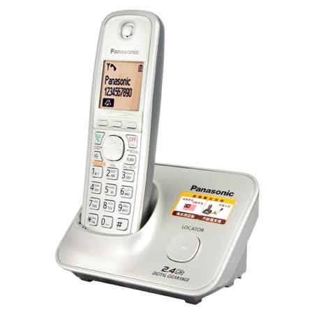 國際牌Panasonic斷電可用2.4G數位大字體無線電話KX-TG3711時尚銀