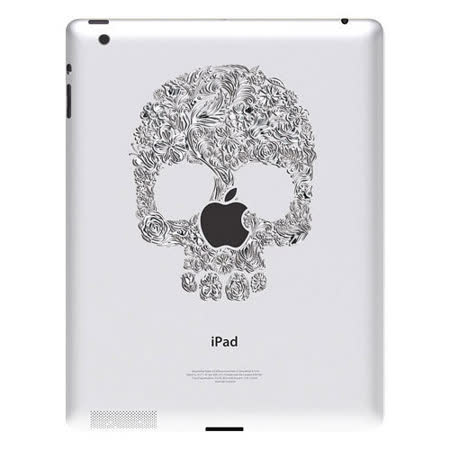 Ozaki iCoat Relief new iPad/iPad 2專用仿鋁材質浮雕機背貼紙