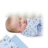 美國 Summer Infant SwaddleMe 可調式懶人包巾兩入組【純棉薄款 - 工程大隊】, 小號