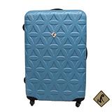 Miyoko 時尚花系列~ABS加大輕硬殼行李箱28吋(土耳其藍)