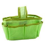 【iSFun】綠色網狀*隨身多格包中袋