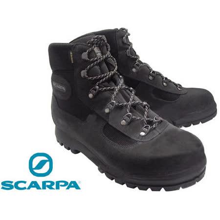 【義大利 SCARPA】Gore-tex高筒防水透氣登山鞋/鐵灰