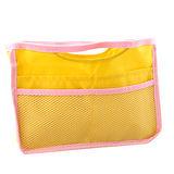 【iSFun】鮮黃網面*輕薄萬用包中袋