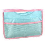 【iSFun】淺藍網面*輕薄萬用包中袋