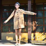【w.p.c.】baby style。時尚雨衣/風衣(R1002)-卡其
