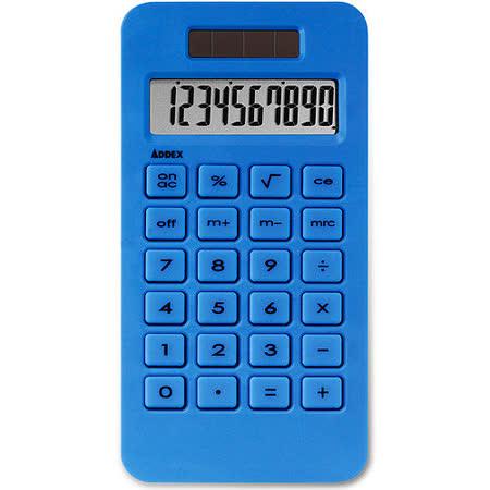 《Addex》Solar 樂活10位計算機(藍)