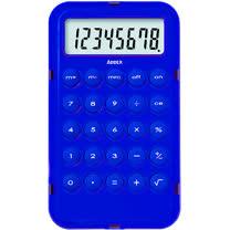 《Addex》Pocket 輕透8位計算機(藍)