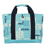 TOMMY HILFIGER 新款塗鴉休閒購物包(大)-淺藍色