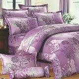 Joy bed【紫色花語】雙人鋪棉八件式床罩組(台灣製)