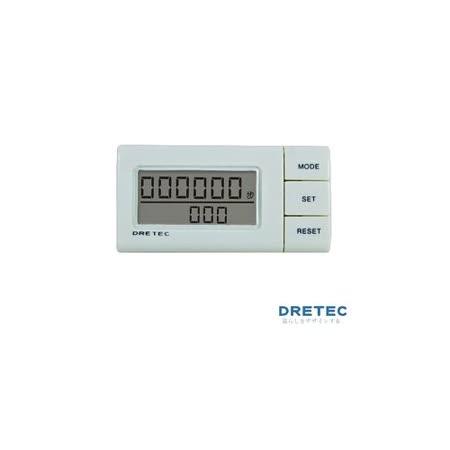 【日本DRETEC】流線型雙螢幕隨身計步器-白