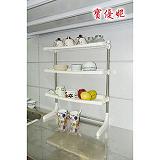 【寶優妮】不鏽鋼廚房三層置物架(米色)