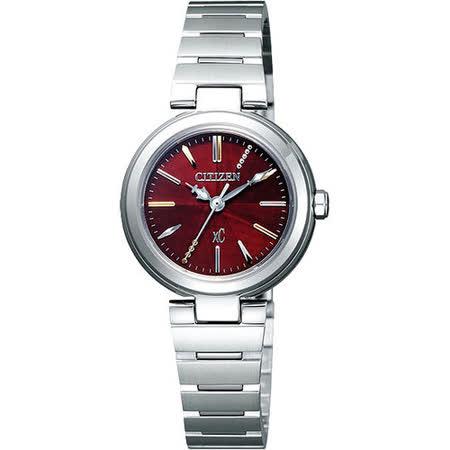 CITIZEN xC 優美風情時尚腕錶(FE2020-66W)-紅/銀