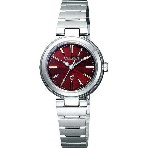 CITIZEN xC 優美風情 腕錶^(FE2020~66W^)~紅銀