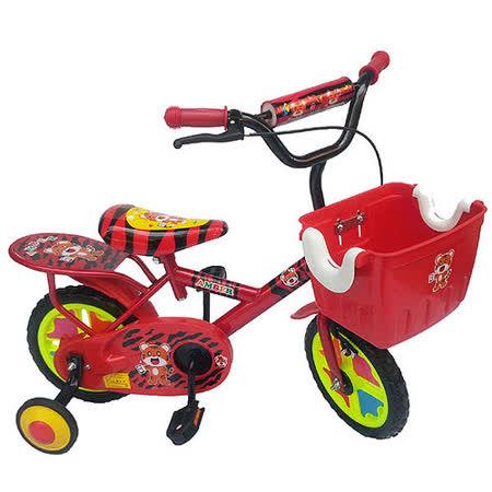 【MIT台灣童車】12吋老虎腳踏車 ( 紅 / 藍 / 橘 )