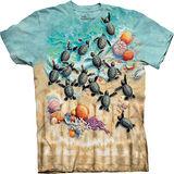 『摩達客』(預購)美國進口【The Mountain】自然純棉系列 小綠龜設計T恤