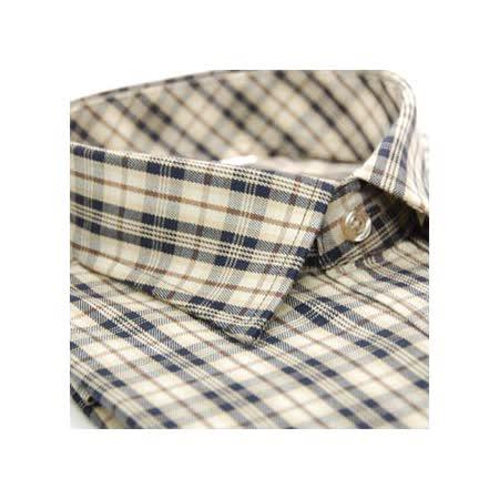 【金安德森】咖啡色經典格紋長袖襯衫