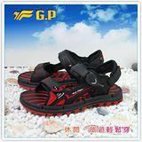 【G.P】阿亮代言~男/女-排水功能休閒涼鞋 G7211-14(黑紅)共三色