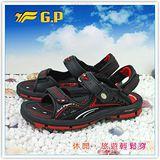 【G.P】阿亮代言~男/女-排水功能休閒涼鞋 G7216-14(黑紅)共二色