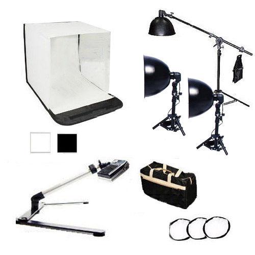 專業型60公分攝影棚銀鑽三燈組