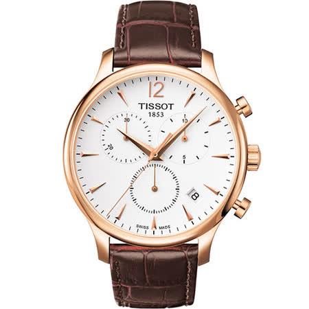 TISSOT Tradition 復刻計時腕錶(T0636173603700)-42mm