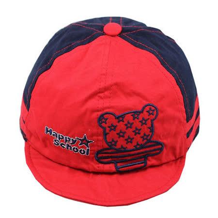 韓版-小熊造型鴨舌帽(紅)