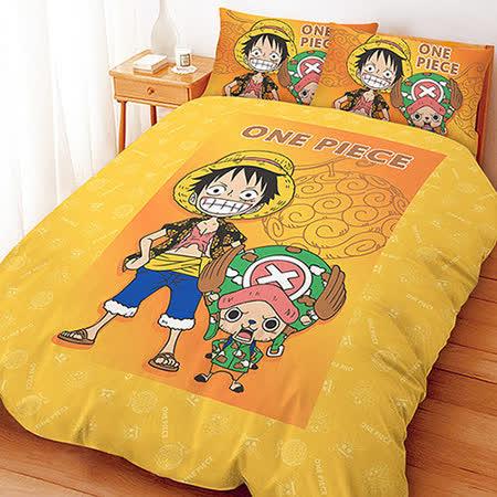【享夢城堡】航海王 邁向未來系列-雙人四件式床包兩用被組