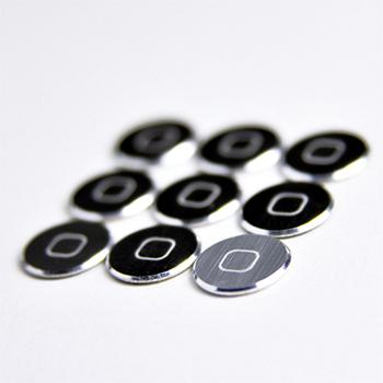 金屬髮絲紋按鍵貼(單顆裸裝) for iPhone/iPad/iPod Touch