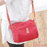 DF【Queenin】甜美日系女孩實用型防水悠閒斜肩包(共4色)