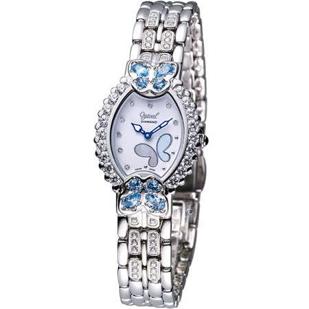 Ogival 瑞士愛其華 舞蝶系列 璀璨腕錶(380-05DLW-SB)藍