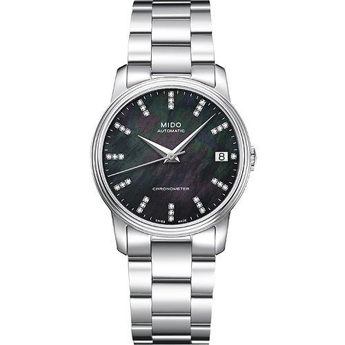 MIDO Baroncelli III 真鑽機械腕錶(M0102081112600)-黑/33mm